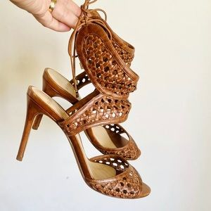 🌱ALEXANDRE BIRMAN Sz 39 Brown Leather Heels
